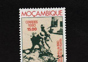 Catarina Simão: Mueda 1979 (Briefmarke aus Mosambik zum 20. Jahrestag des Mueda-Massakers, Filmstill), 2013